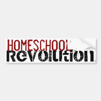 Homeschool Revolution bumper sticker Car Bumper Sticker
