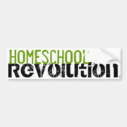 Homeschool Revolution bumper sticker Green