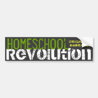 Homeschool Revolution - Originality Embraced Bumper Sticker