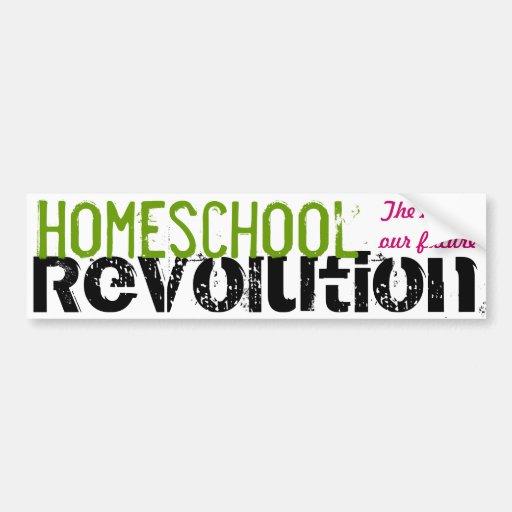 Homeschool Revolution - The key to our future Bumper Stickers
