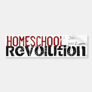 Homeschool Revolution - The key to our future Red Car Bumper Sticker