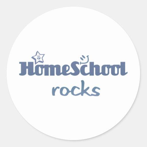 Homeschool rocks round sticker
