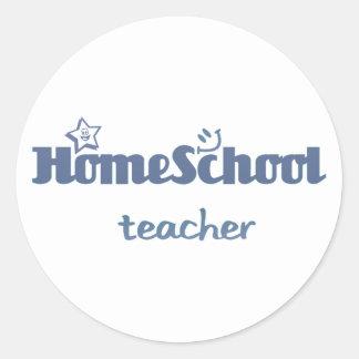 Homeschool Teacher Classic Round Sticker