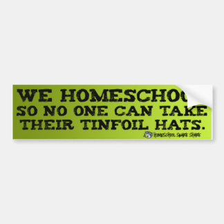 Homeschool Tinfoil Bumper Sticker