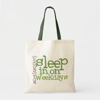 Homeschool tote bag: Sleep in