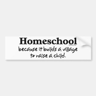 Homeschool Village Bumper Sticker