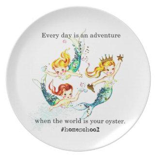 Homeschool World is Oyster Vintage Mermaid Plate