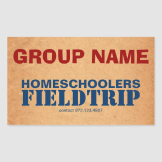 Homeschooler Field Trip Sticker