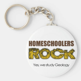 Homeschoolers Rock Basic Round Button Keychain