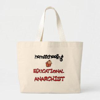 homeschooling jumbo tote bag