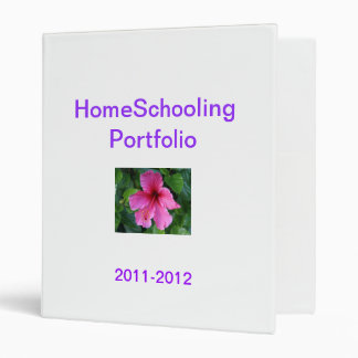 HomeSchooling Portfolio 3 Ring Binder