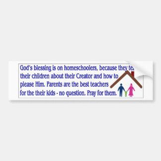 homeschooling promo :) bumper sticker