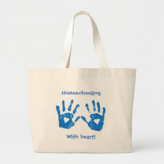 Homeschooling with heart tote bag