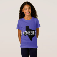 Homesick for Texas girls' shirt
