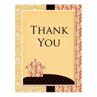 Homespun Thank You Card Postcard