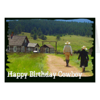 Homestead Cowboy Birthday Greeting Card