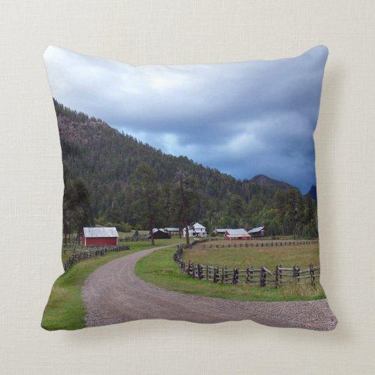 Homestead in Colorado, USA Pillow