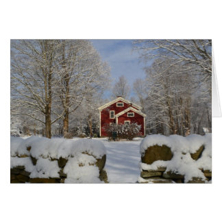 Homestead in Winter Card