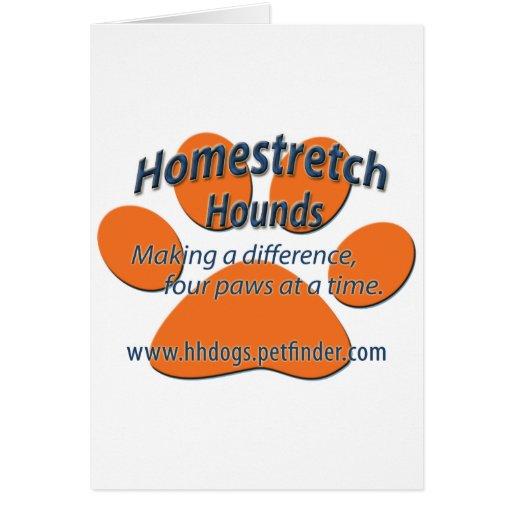 Homestretch Hounds Paw Logo Greeting Card