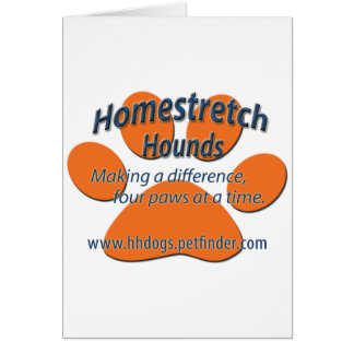 Homestretch Hounds Paw Logo Greeting Card