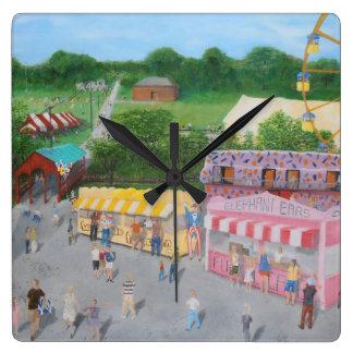 Hometown Fair.JPG Square Wall Clock
