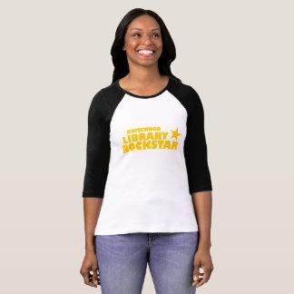 Homewood Library Rockstar Women's Baseball Tshirt
