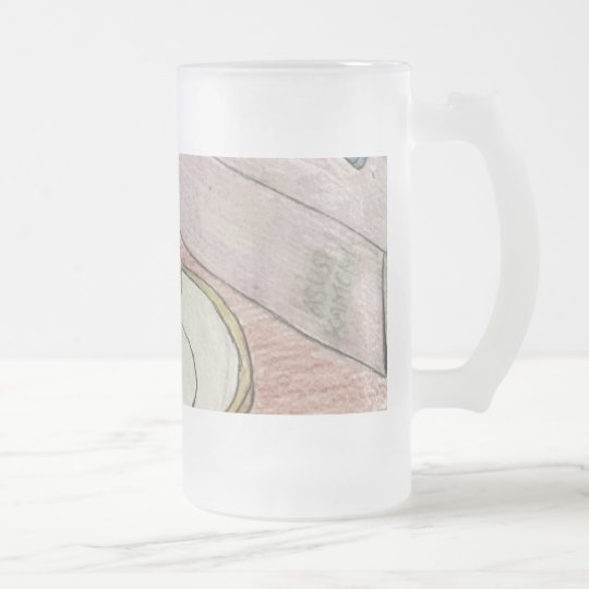 Homework Art Frosted Glass Beer Mug
