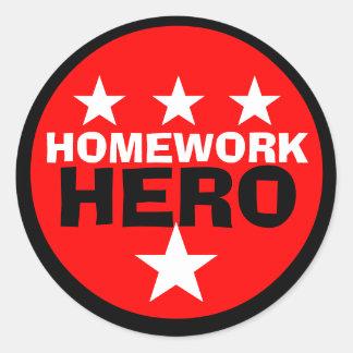 Homework Hero School Sticker