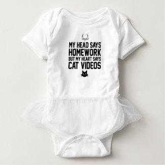 Homework or Cat Videos Baby Bodysuit