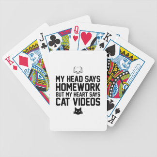 Homework or Cat Videos Bicycle Playing Cards