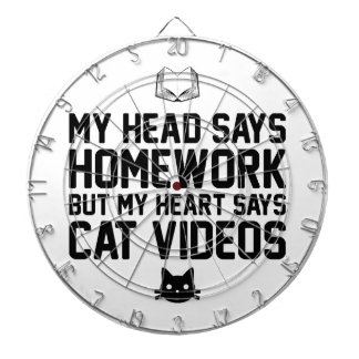Homework or Cat Videos Dartboard