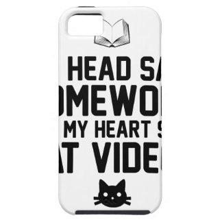 Homework or Cat Videos iPhone 5 Cases