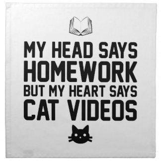 Homework or Cat Videos Napkin