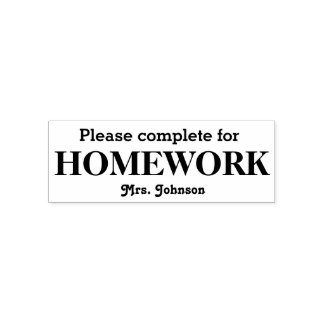 Homework Stamp Personalized with Teacher's Name