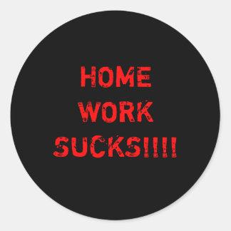 Homework stickers