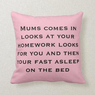 homework sucks throw pillow