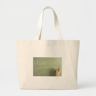 Homework Teacher Gift Idea Bookbag Large Tote Bag