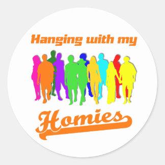 Homies Classic Round Sticker