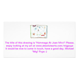 Hommage At Joan Miro Picture Card