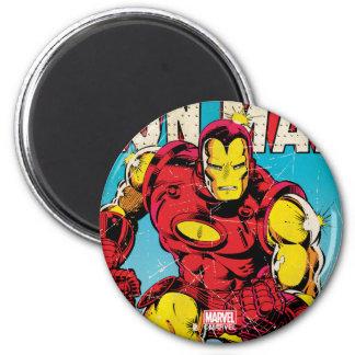Homme #126 comique de fer magnet rond 8 cm