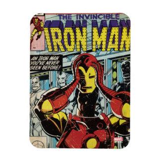 Homme #170 comique de fer magnet rectangulaire avec photo