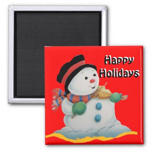 Homme de neige, bonnes fêtes aimant