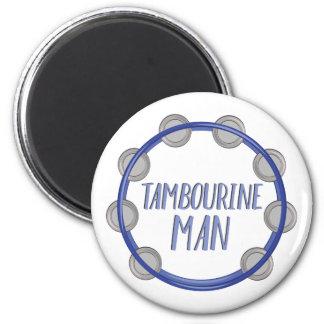 Homme de tambour de basque magnet rond 8 cm