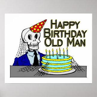 Homme de toile d'araignée de joyeux anniversaire poster