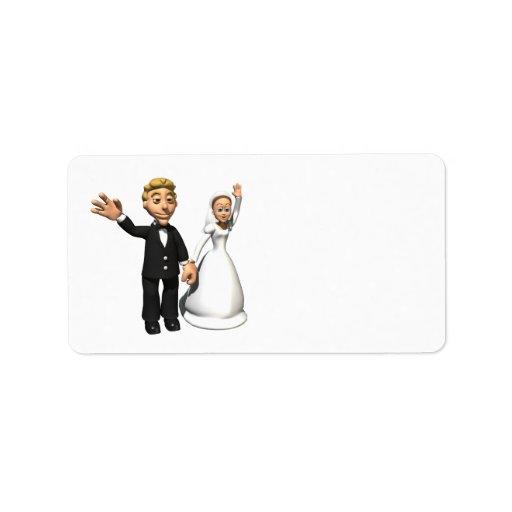 Homme et épouse étiquette d'adresse