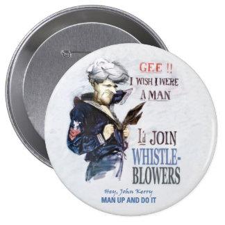 Homme, John Kerry ! Macaron Rond 10 Cm