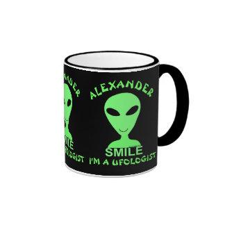 Homme vert de l'alien LGM de sourire petit Tasse À Café
