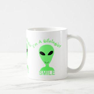 Homme vert de l'alien LGM de sourire petit Tasse