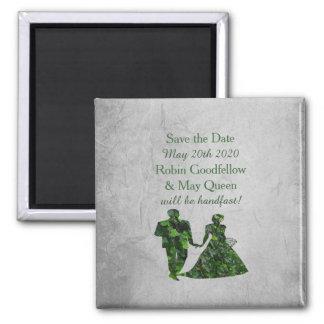 Homme vert et Madame Handfasting Save l'aimant de