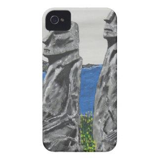 Hommes de pierre d'île de Pâques Coques iPhone 4